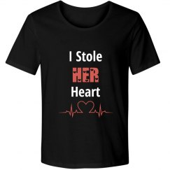 """I stole HER heart"" couple tee"