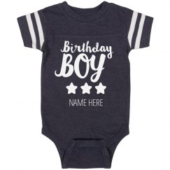 Custom Birthday Boy Onesie