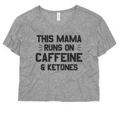 Funny Fit Mama Runs on Keytones