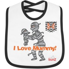 Halloween Mummy girl Bib