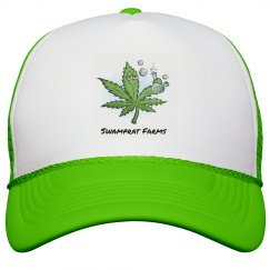 SWAMPRAT FARMS neon snapback Hat