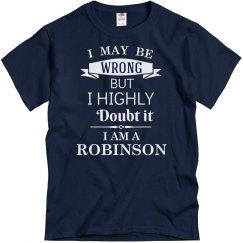 I am a Robinson