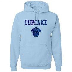 Cupcake Blue Glitter Text