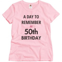 A day to remember, 50th
