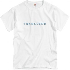 Blue on white transcend tee