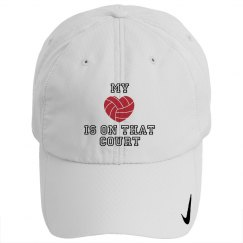 Volleyball - heart on court - HAT