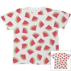 Watermelon Print Youth Tee