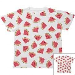 Watermelon Print Youth Tee