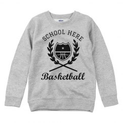 Custom Basketball Youth Kids Sweatshirt