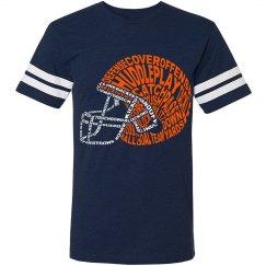 Football Word Helmet