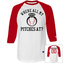 Bridesmaid Baseball Bachelorette Party Jerseys