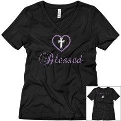 Blessed V-neck Tee