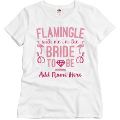 Custom Funny Flamingle Bride Design