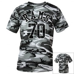 Camo number back and front