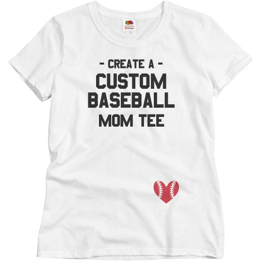 beadd51c Custom Baseball Mom Tee Ladies Relaxed Fit Basic Promo T-Shirt