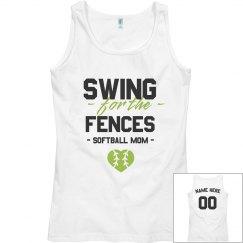 Softball Mom Swing For The Fences