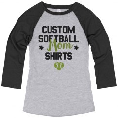 Custom Vintage Softball Mom