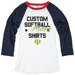 Custom Vintage Softball Mom