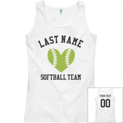 Custom Softball Team Tank