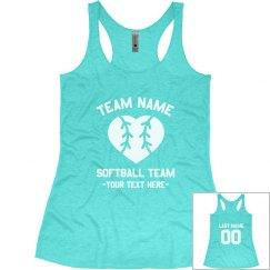 Custom Softball Team Triblend Tank