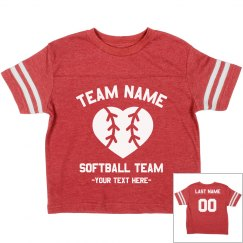 Custom Kids Softball Tee