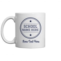 Custom School Name Teacher Gift