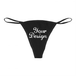 Custom Script Text Sexy Thong