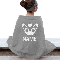 Custom Name Dance Ballet Blanket