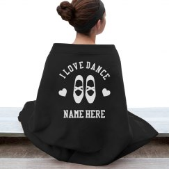 Custom Name Love Dance Blanket