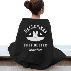 Ballet Dance Blanket Custom Name
