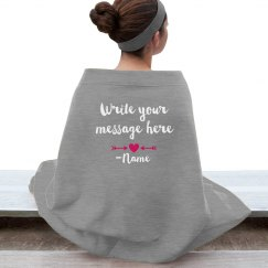 Custom Message Valentine Blanket