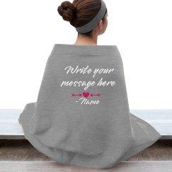 Custom Message Valentine Blanket