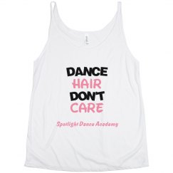 Dance Hair Don't Care Tank-Adult
