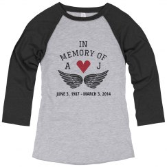 Custom Initials Memorial Heart Shirt