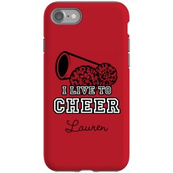 I Live To Cheer iPhone