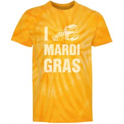 I Love Mardi Gras Gold