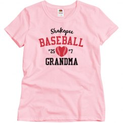 Basic Baseball Grandma, White