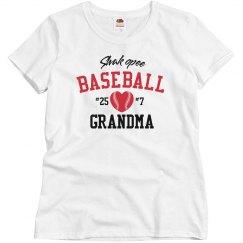 Basic Baseball Grandma, White