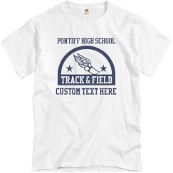 Distressed Track Tee