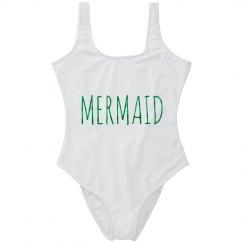 Mermaid Bathing Suit Metallic