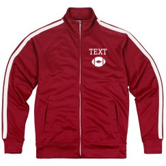 Custom Football Emblem Sporty Zip Jacket
