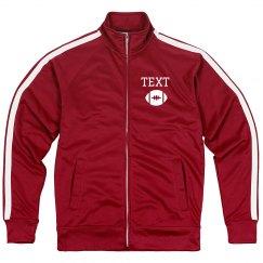 Custom Football Emblem Sporty Zip Jacket