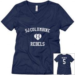 Rebel Mom t-shirt navy