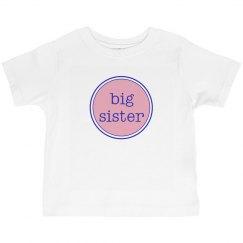Big Sister TShirt Pink Navy