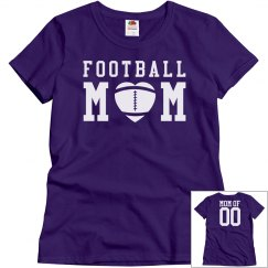 Football Mom in School Colors