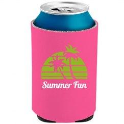 Neon Green Palm Trees Summer Fun