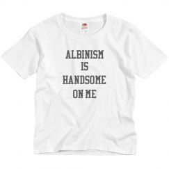 Albinism Is Handsome On Me- Boy Youth- Gray and Blk