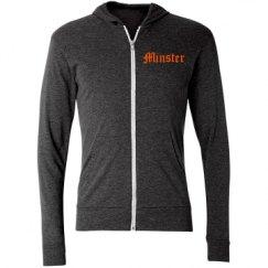 Unisex Triblend Full-Zip Lightweight Hoodie