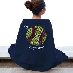 Personalized Softball Blanket