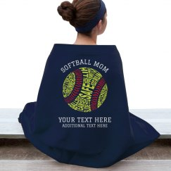 Custom Softball Mom Blanket